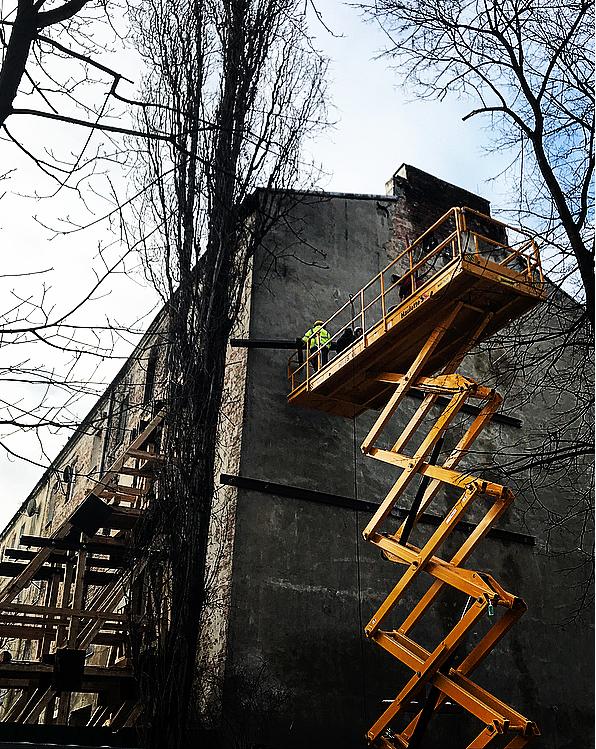 Konstrukcja wzmacniająca (Siedlecka 34 Warszawa)