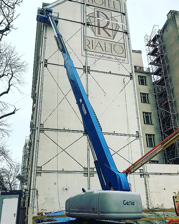 Konstrukcja wzmacniająca na Wilczej 73 w Warszawie 1
