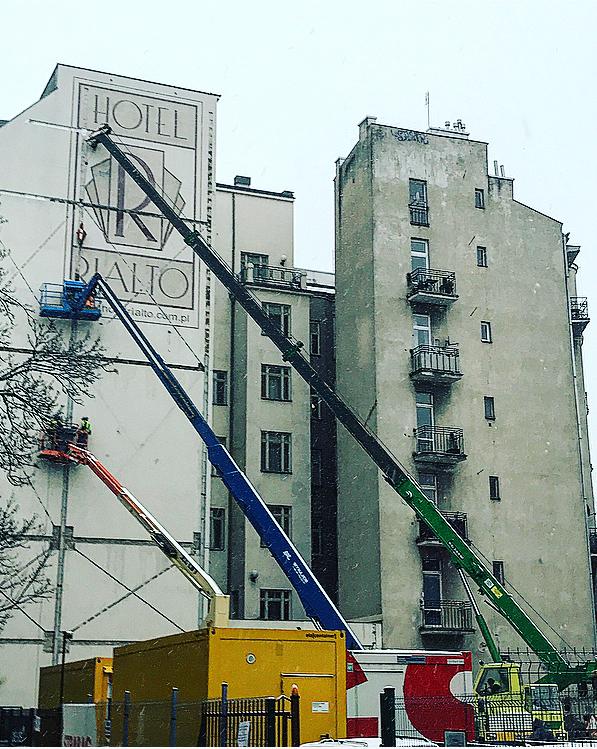 Konstrukcja wzmacniająca na Wilczej 73 w Warszawie 2