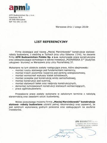 Referencje (APM Budownictwo)