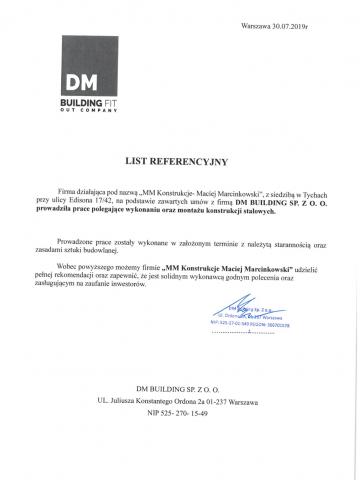 referencje DM Building