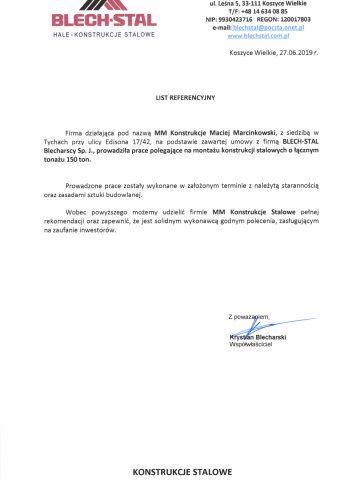 Referencje Blech-Stal